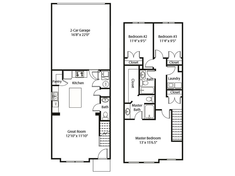 3x2 - A apartment available today at Smithfield Station Townhomes in Smithfield