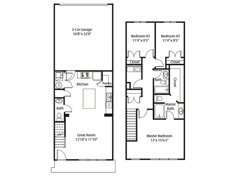 3x2 - C apartment available today at Smithfield Station Townhomes in Smithfield