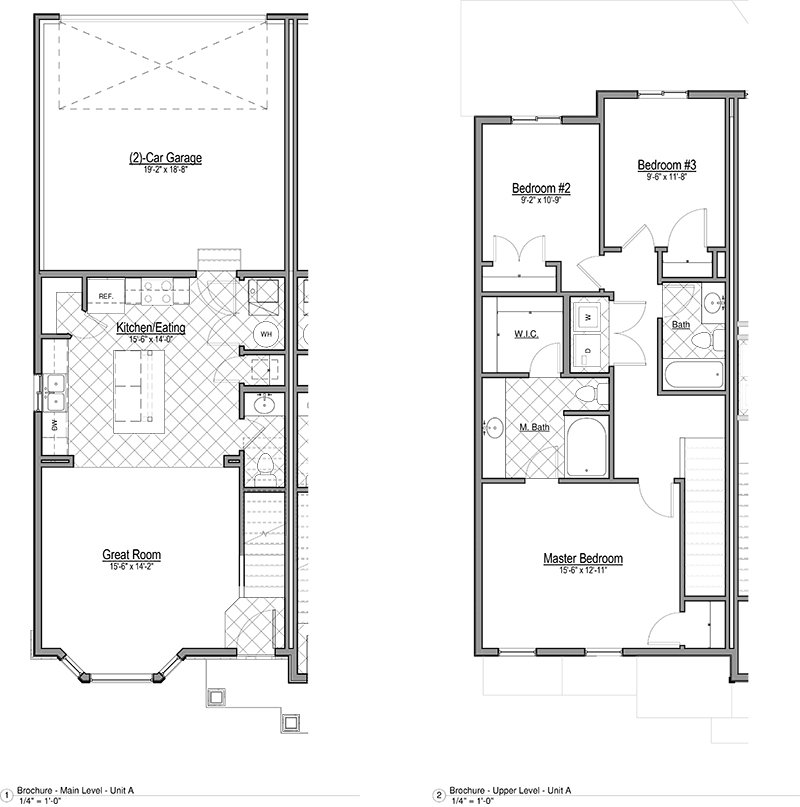 Smithfield Station Townhomes Apartments Floor Plan Townhome A