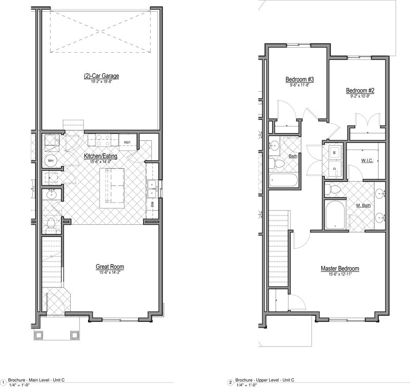 Smithfield Station Townhomes Apartments Floor Plan Townhome C