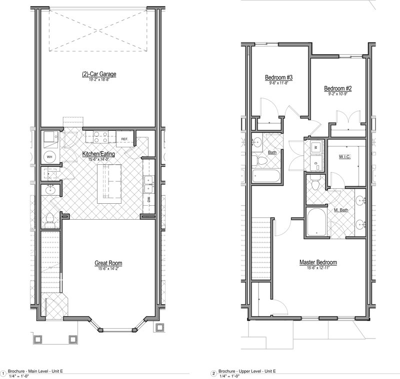 Smithfield Station Townhomes Apartments Floor Plan Townhome E