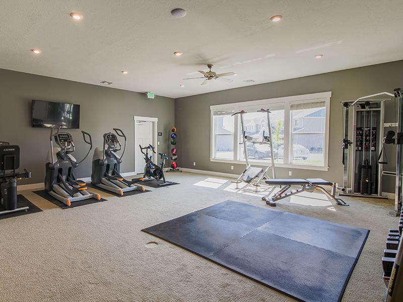 Gym | Smithfield Station Townhomes