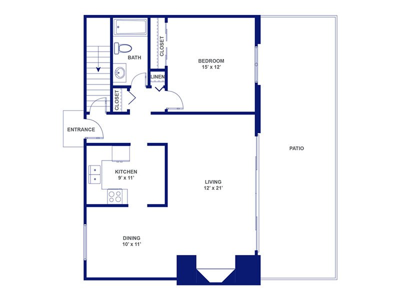 Three Fountains Apartments Floor Plan Bacchus I