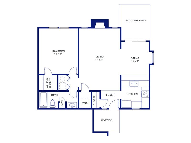 Three Fountains Apartments Floor Plan Bacchus II