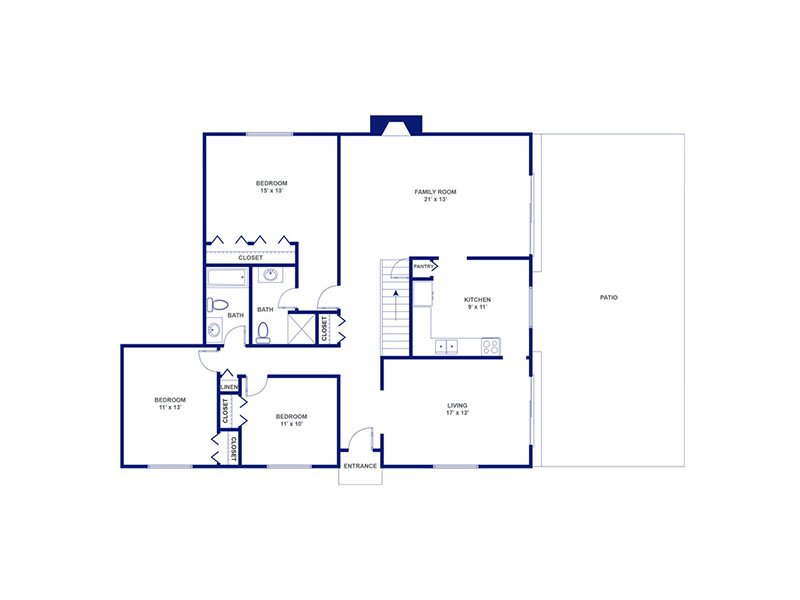 3 Bedroom 2 Bathroom Apartment Priced At 1372 1618 Sq Ft