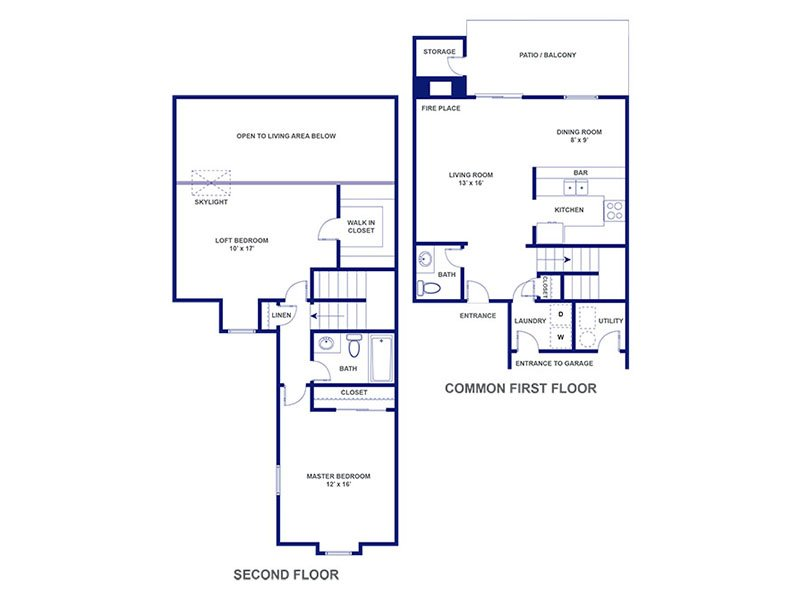 Three Fountains Apartments Floor Plan Seville II