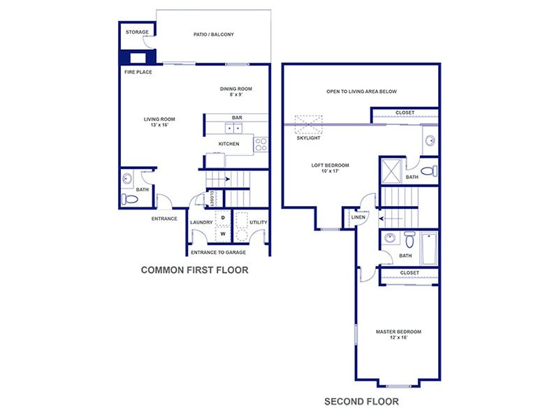 Three Fountains Apartments Floor Plan Seville VI