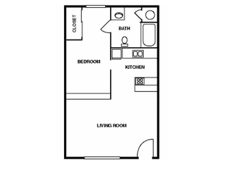 Super Studio apartment available today at Eagle Ridge in Lawrence