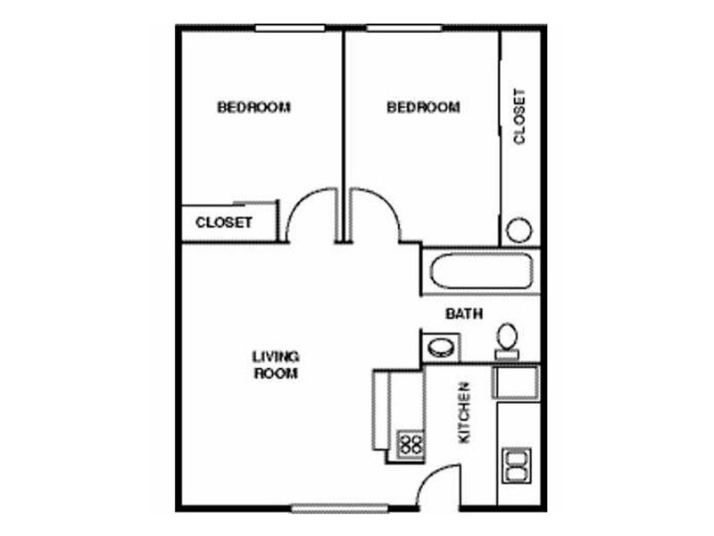 Two Bedroom One Bathroom apartment available today at Eagle Ridge in Lawrence
