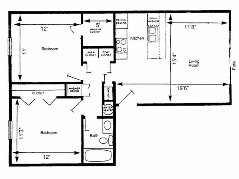 View floor plan image of EAST 21 apartment available now