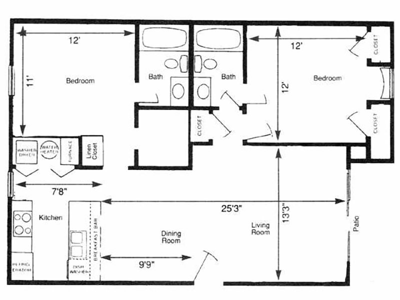 View floor plan image of EAST 22 apartment available now