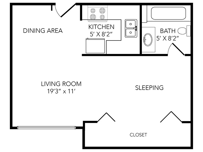 Country Club on 6th Apartments Floor Plan Ace