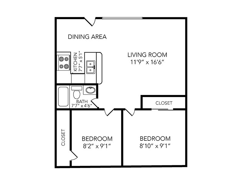 Bogie apartment available today at Country Club on 6th in Lawrence