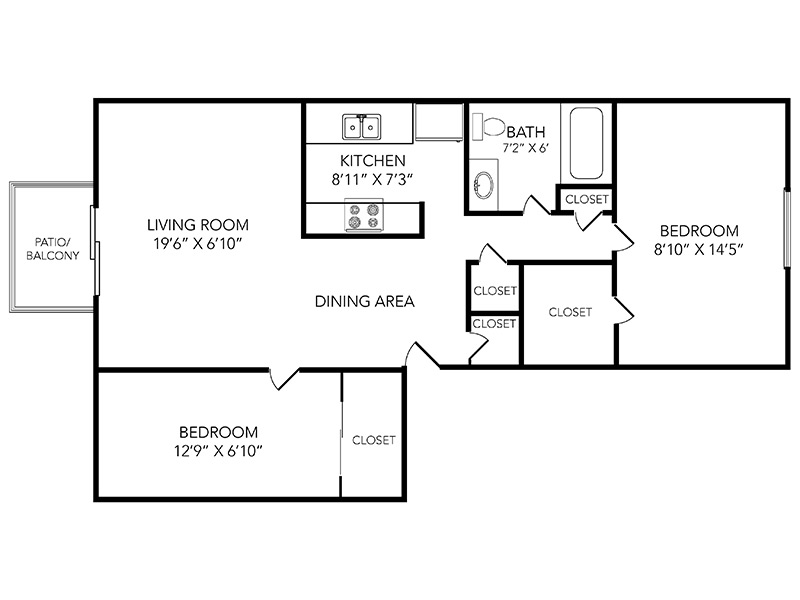 Country Club on 6th Apartments Floor Plan Iron