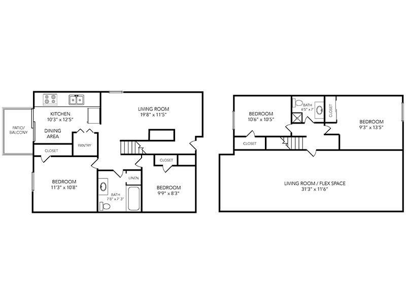 Country Club on 6th Apartments Floor Plan Nicklaus Townhome