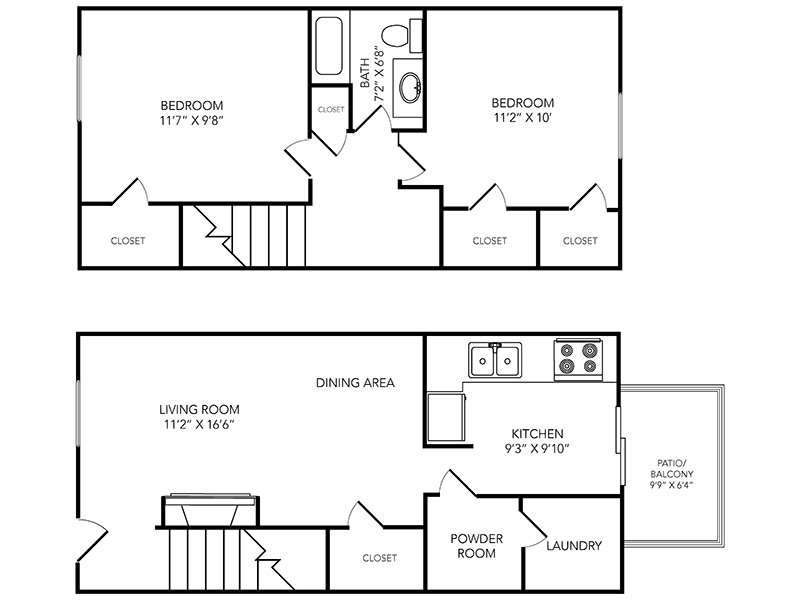 Country Club on 6th Apartments Floor Plan Palmer Townhome