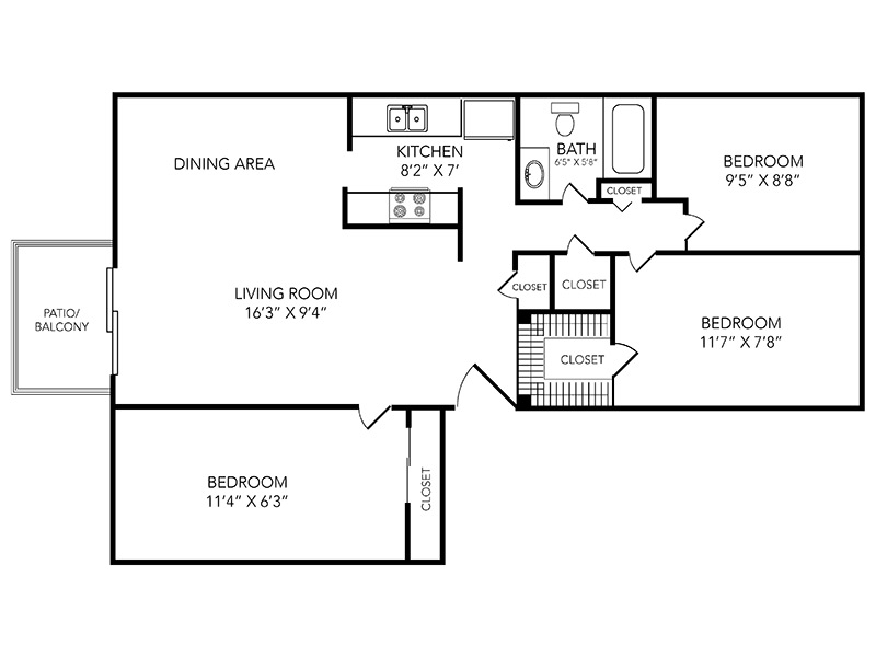 Country Club on 6th Apartments Floor Plan Par