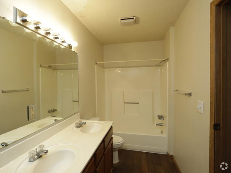 Bathroom | Country Club on 6th Apartments