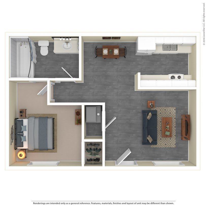 Apartments On The Green Apartments Floor Plan Model 1A