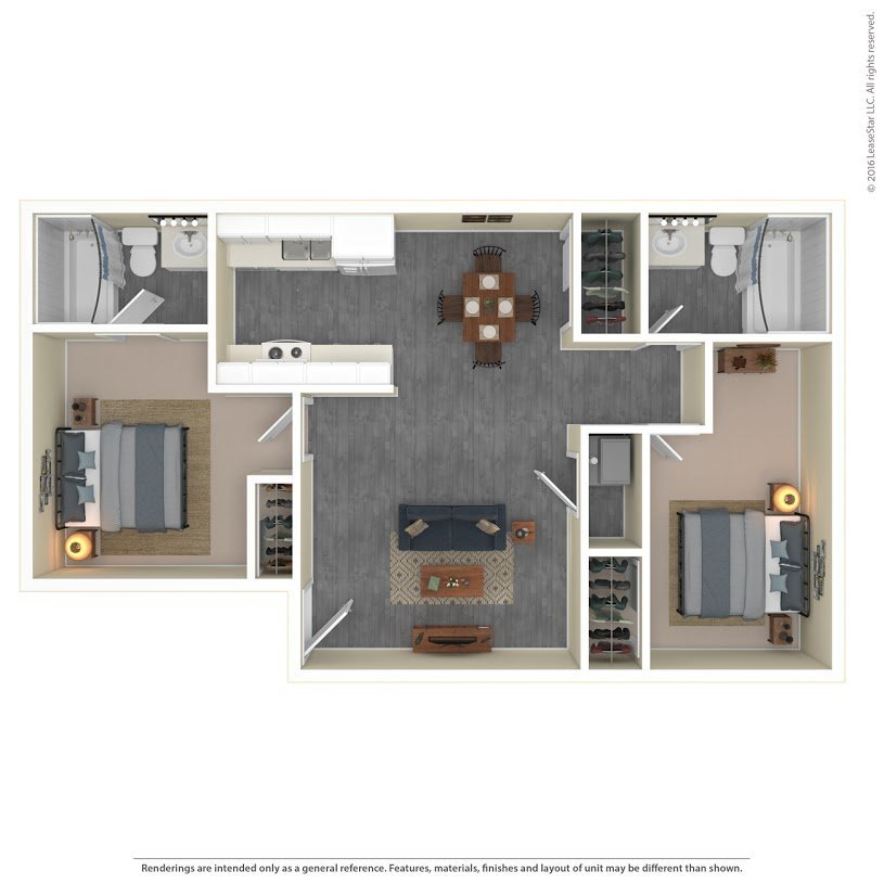 Apartments On The Green Apartments Floor Plan Model 2B