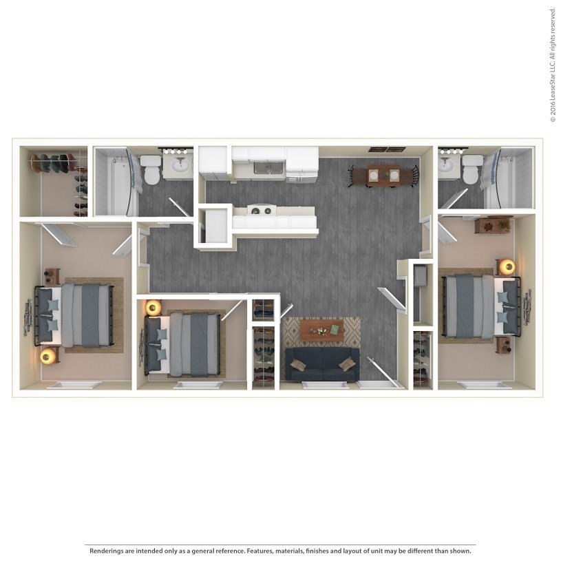 Apartments On The Green Apartments Floor Plan Model 3A