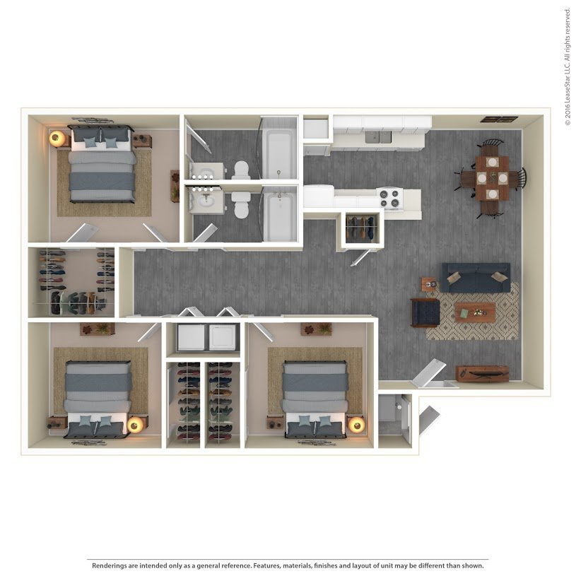 Apartments on the Green Apartments Floor Plan Model 3B