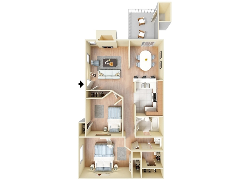 View floor plan image of Elm apartment available now