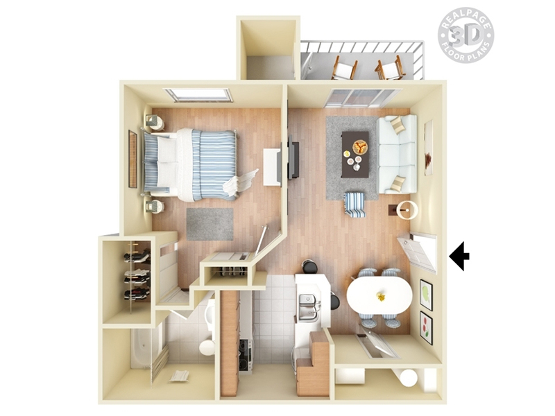 View floor plan image of Oak apartment available now