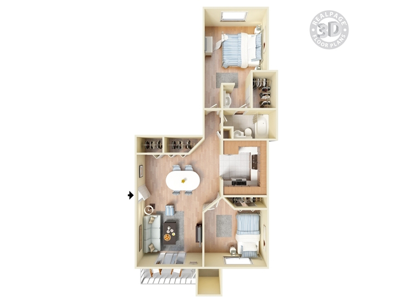 The Lodge Apartments Floor Plan Redwood
