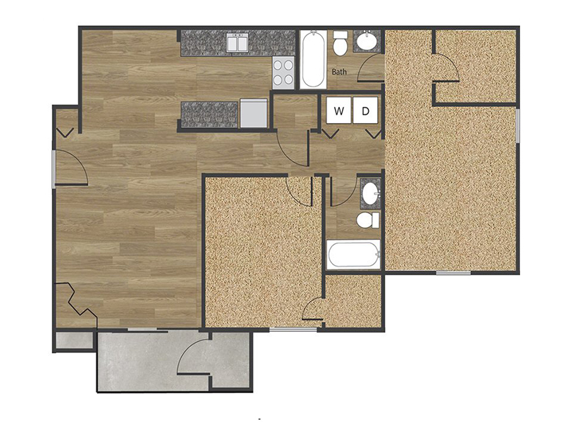 View floor plan image of 2x2A apartment available now