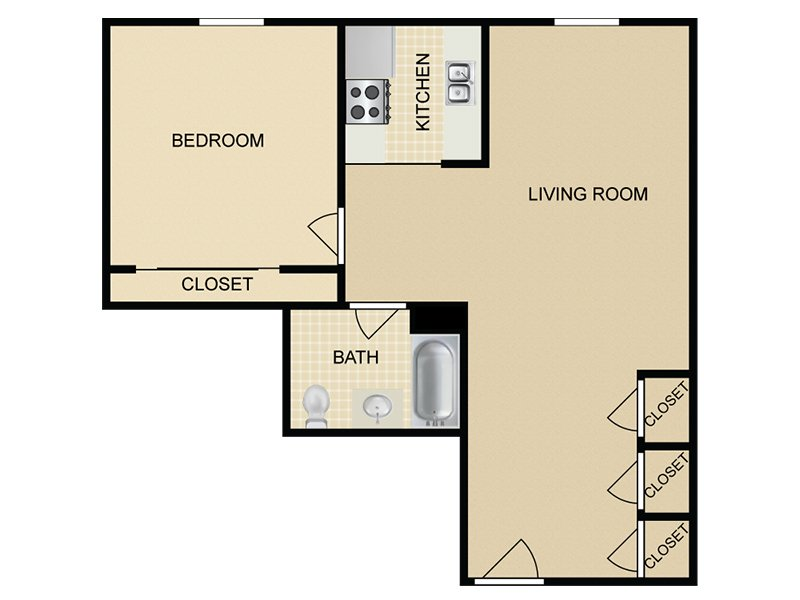 A4 apartment available today at Hollywood View Towers in Hollywood