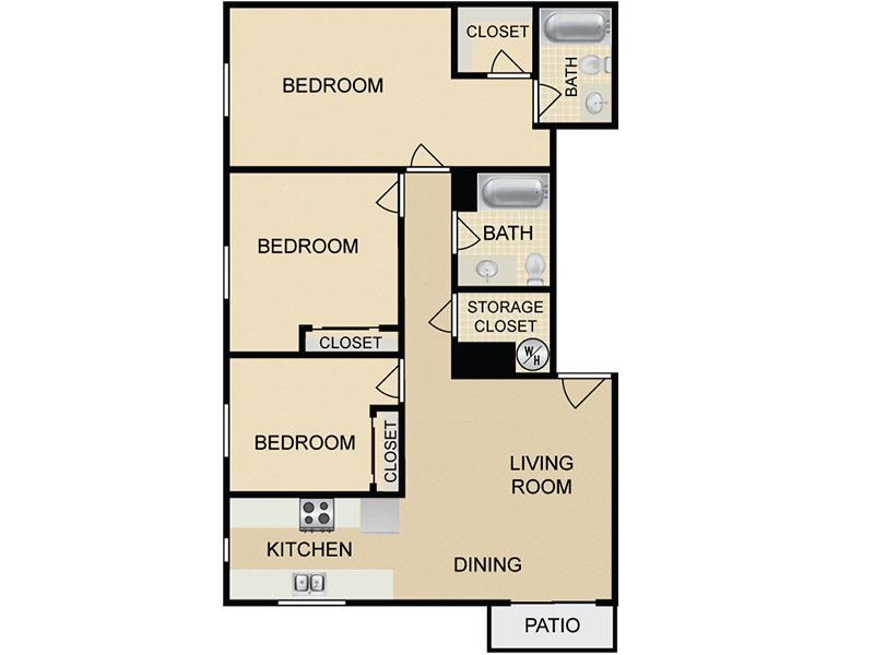 C1 apartment available today at Hollywood View Towers in Hollywood