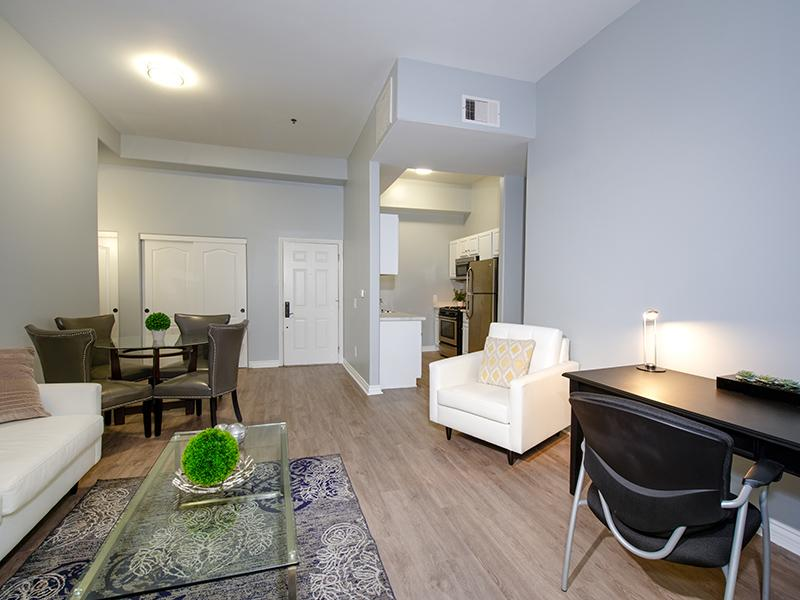 Living Room & Dining Area | Hollywood View Towers