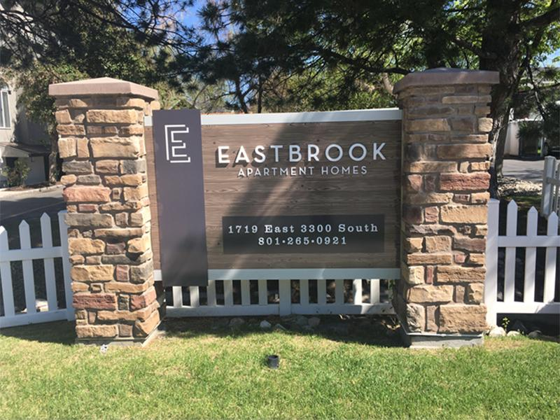 Monument Sign   Eastbrook Apartments in Salt Lake City, UT