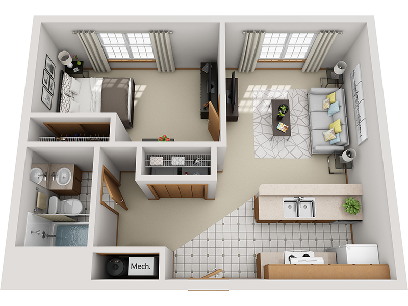 View floor plan image of 1 Bedroom 1 Bathroom A apartment available now
