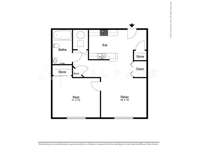 View floor plan image of 1 Bedroom 1 Bathroom apartment available now