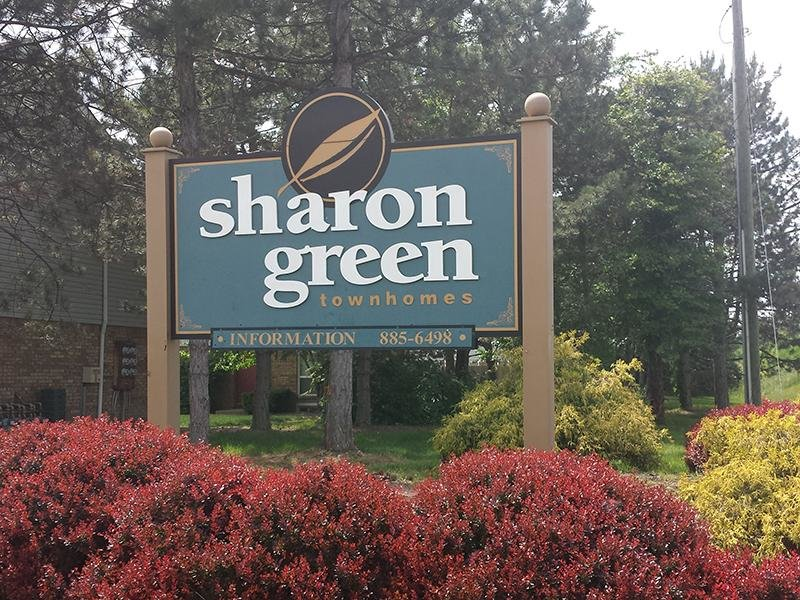 Welcome Sign | Sharon Green Townhomes