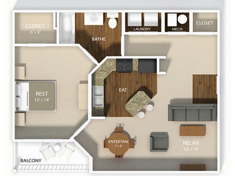 THE ABBEY apartment available today at Wesbury Park in Columbus