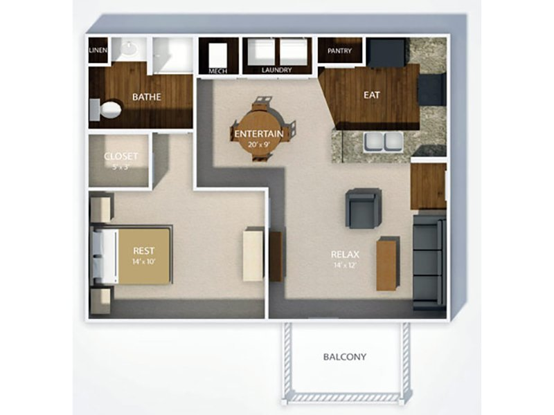 View floor plan image of THE KENSINGTON apartment available now