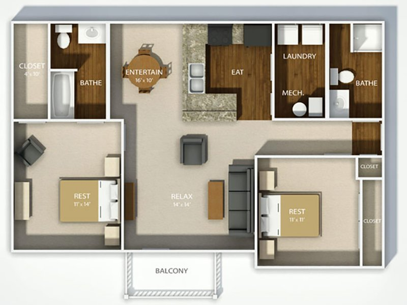 View floor plan image of THE LONDON apartment available now