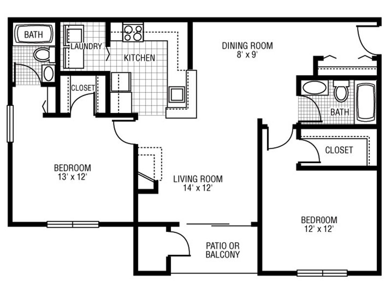 View floor plan image of C-3 apartment available now
