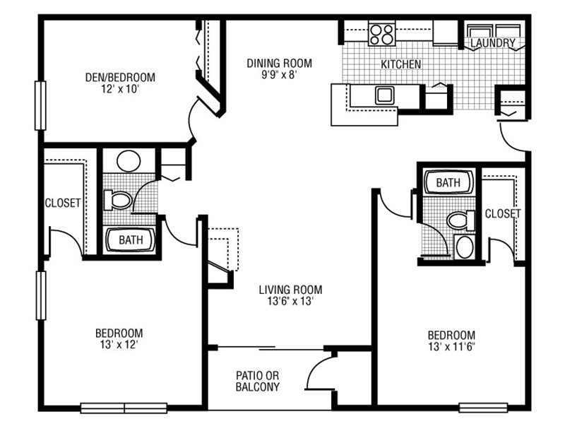 D-1 apartment available today at Camden at Bloomingdale in Bloomingdale