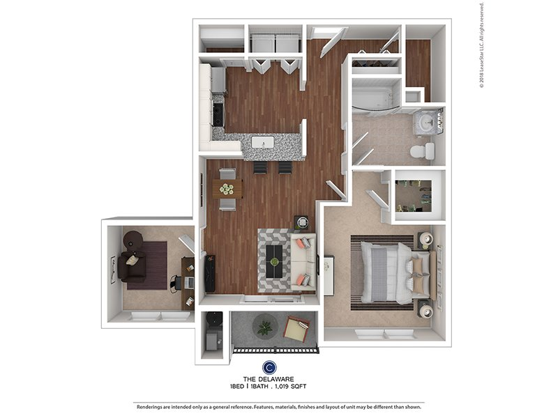 The Colony at Chews Landing Apartments Floor Plan The Delaware