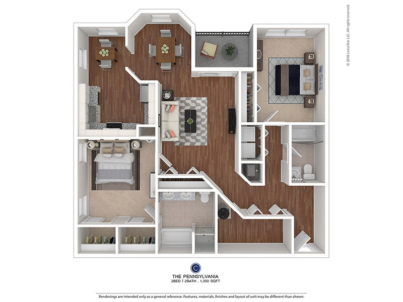 The Colony at Chews Landing Apartments Floor Plan The Pennsylvania