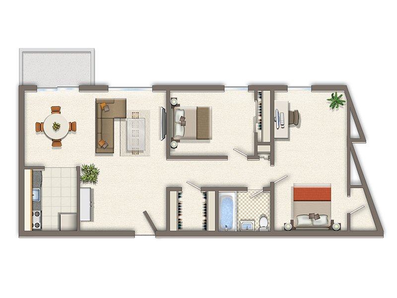Park Tanglewood Apartments Floor Plan 2 Bedroom