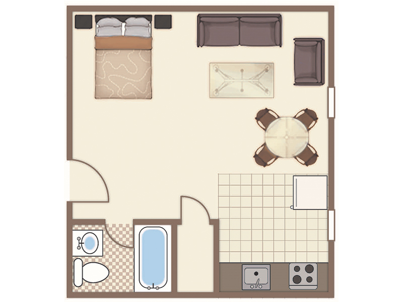 Park Tanglewood Apartments Floor Plan Studio