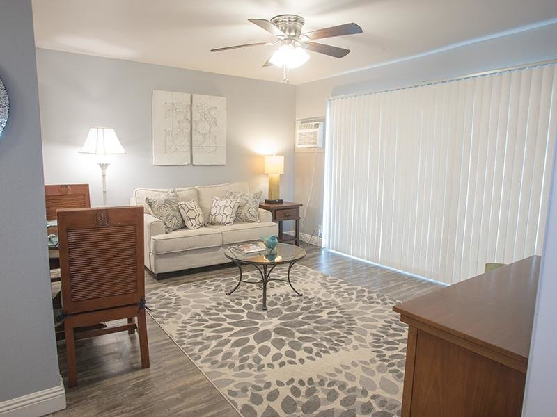 Model Living Room | Sunset Terrace Apartments in Lahaina, HI
