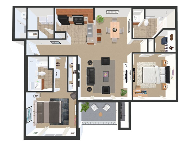 Floor Plans for Academy Park Apartments in New Albany