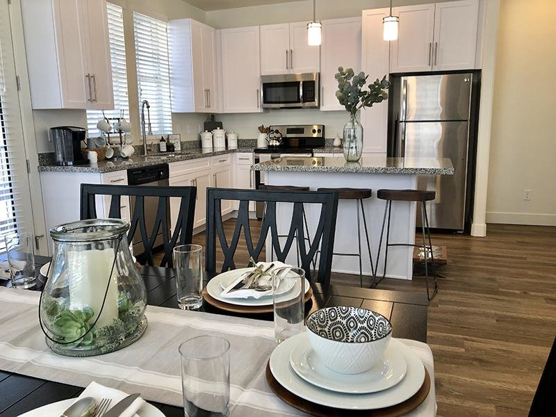 Dining Room & Kitchen | Aero Townhomes