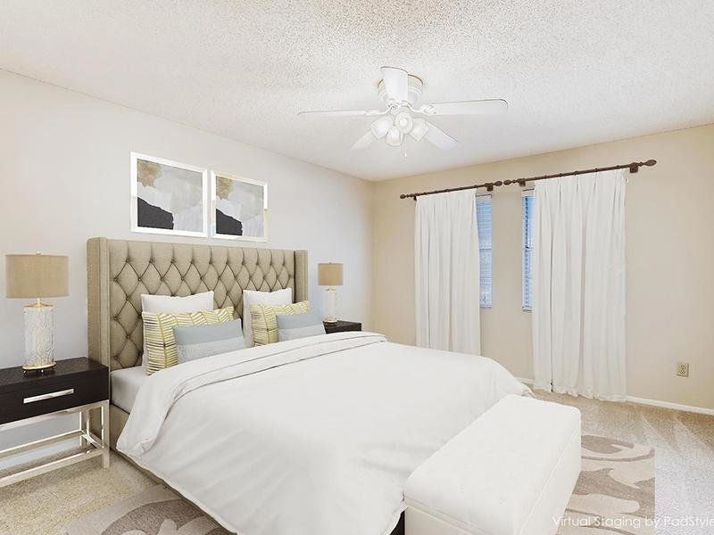 Spacious Furnished Bedroom   Bocage Apartments in Orlando, FL
